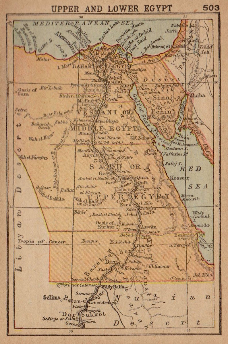 Map of Egypt (1902)